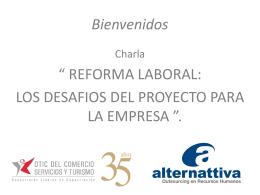 Charla Reformas Laborales - otic del comercio servicios y turismo