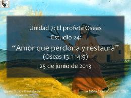 Oseas - Iglesia Bíblica Bautista de Aguadilla