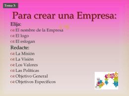 Para crear una Empresa