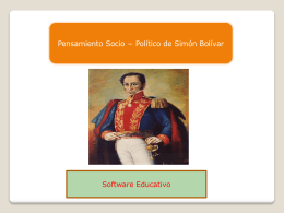 software educativo pensamiento de Bolivar