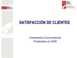 Convocatorias finalizadas en 2009 (549 Kb. )
