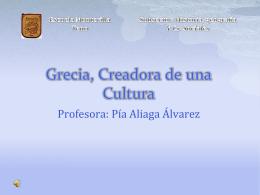 Grecia, Creadora de una Cultura1