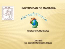 Primera Clase de Mercado - Profesora Scarleth Martínez