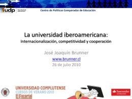 Análisis comparado de sistemas de educación superior en países