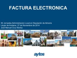 factura electronica - Diputación Provincial de Almería