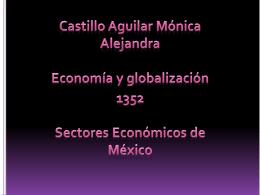 Sectores - Economía y Globalización
