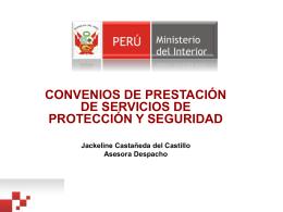 Convenios de Prestación de Servicios de Protección y Seguridad