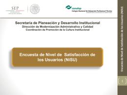 Nivel de Satisfacción de los Usuarios (NiSU)