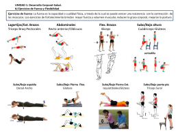Unidad 1 B) Ejercicios de fuerza y Flexibilidad