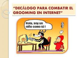 decálogo para combatir el grooming en internet