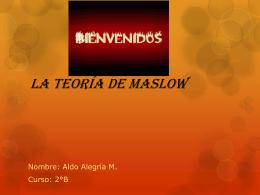 La teoría de Maslow