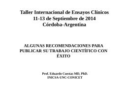 ICTW 2014: Nuevos Hallazgos de Investigación