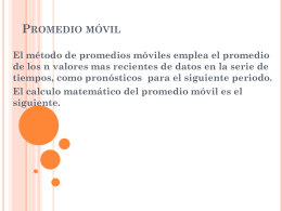 Promedio movil - WordPress.com