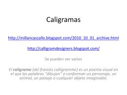 Ejercicio Caligramas - ajustado 2013