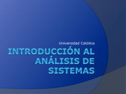Introducción al análisis de sistemas