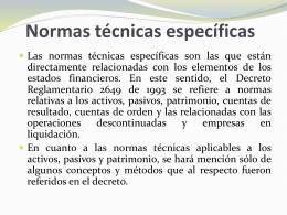 Normas técnicas específicas