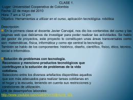 clases de procesos tecnologicos por gloria ossa