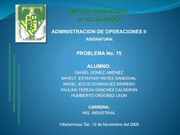 Problema No. 15 (Diapositiva)