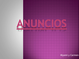 Anuncios KIYOMI Y CARMEN (107222)