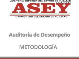 Documentación Necesaria para una Auditoria de Desempeño