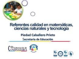 Referentes calidad en matemáticas, ciencias naturales y
