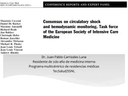 Consenso de monitoreo hemodinámico 2014