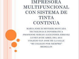 IMPRESORA MULTIFUNCIONAL CON SISTEMA DE TINTA