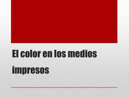 Presentación inicial - Aplicaciones Cromaticas