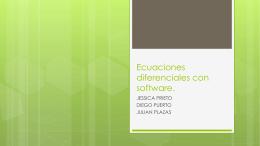 Ecuaciones diferenciales con software.