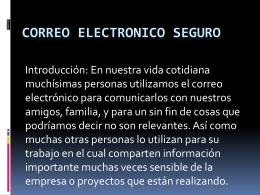 Correo electronico seguro