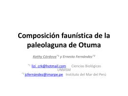 Composición faunística de la paleolaguna de Otuma