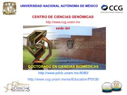 DOCTORADO EN CIENCIAS BIOMÉDICAS http://www.pdcb.unam