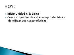 inicio genero lirico - Liceo Bicentenario Talagante