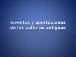 Culturas antiguas - SECUNDARIA n° 78