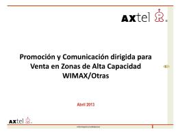Promoción y Comunicación dirigida para Venta en Zonas