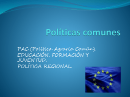 Políticas comunes