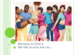 Espanol 2: Unit 4