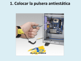 1. Colocar la pulsera antiestática