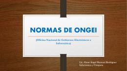 NORMAS DE ONGEI