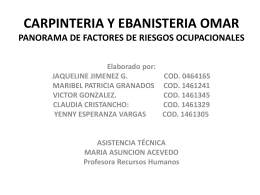 CARPINTERIA Y EBANISTERIA OMAR PANORAMA DE