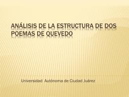 Análisis de la estructura de dos poemas de Quevedo