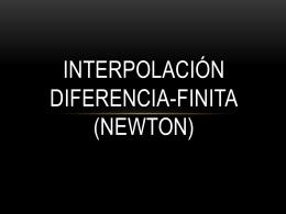 Diferencias Finitas (Newton Oficial).