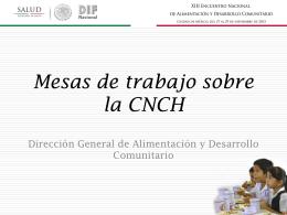Mesas de Trabajo sobre la CNCH (DGADC-SNDIF)