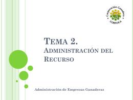 Tema 2. - Administración del Recurso - Humano