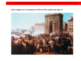las revoluciones burguesas y los movimientos