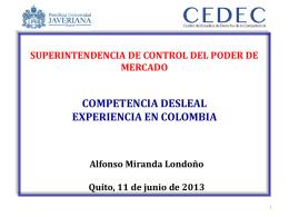 Alfonso Miranda- Competencia Desleal