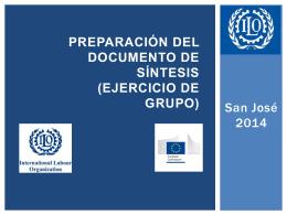 Preparación del Documento de síntesis - ITCILO E