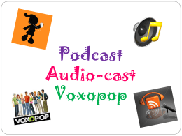 podcast, audio cast, voxopop