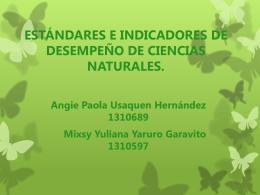 Estándares de Ciencias Naturales, indicadores de