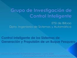 Control Inteligente de los Sistemas de Generación y Propulsión de